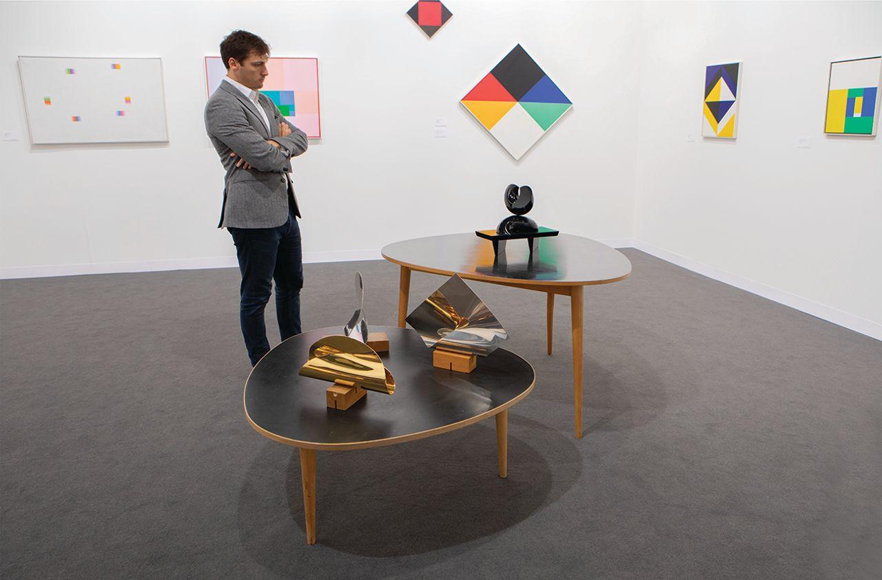 Larkin Erdmann and Galerie Knoell are presenting Max Bill's work David Owens