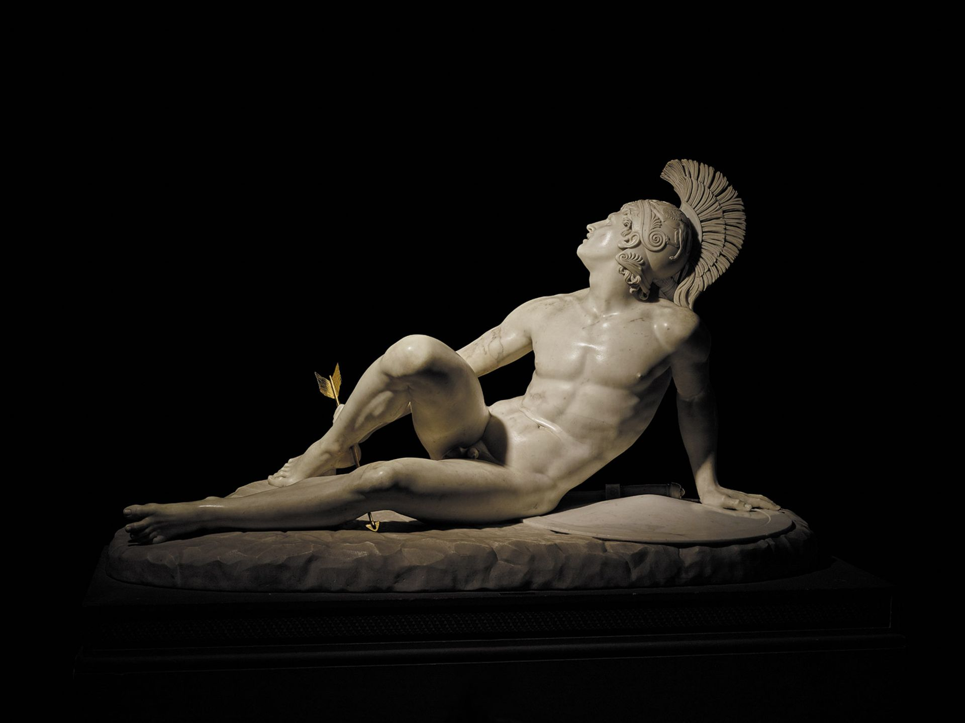 Filippo Albacini's marble statue of the Wounded Achilles (1825) is on loan from Chatsworth House © The Devonshire Collections, courtesy of Chatsworth Settlement Trustees