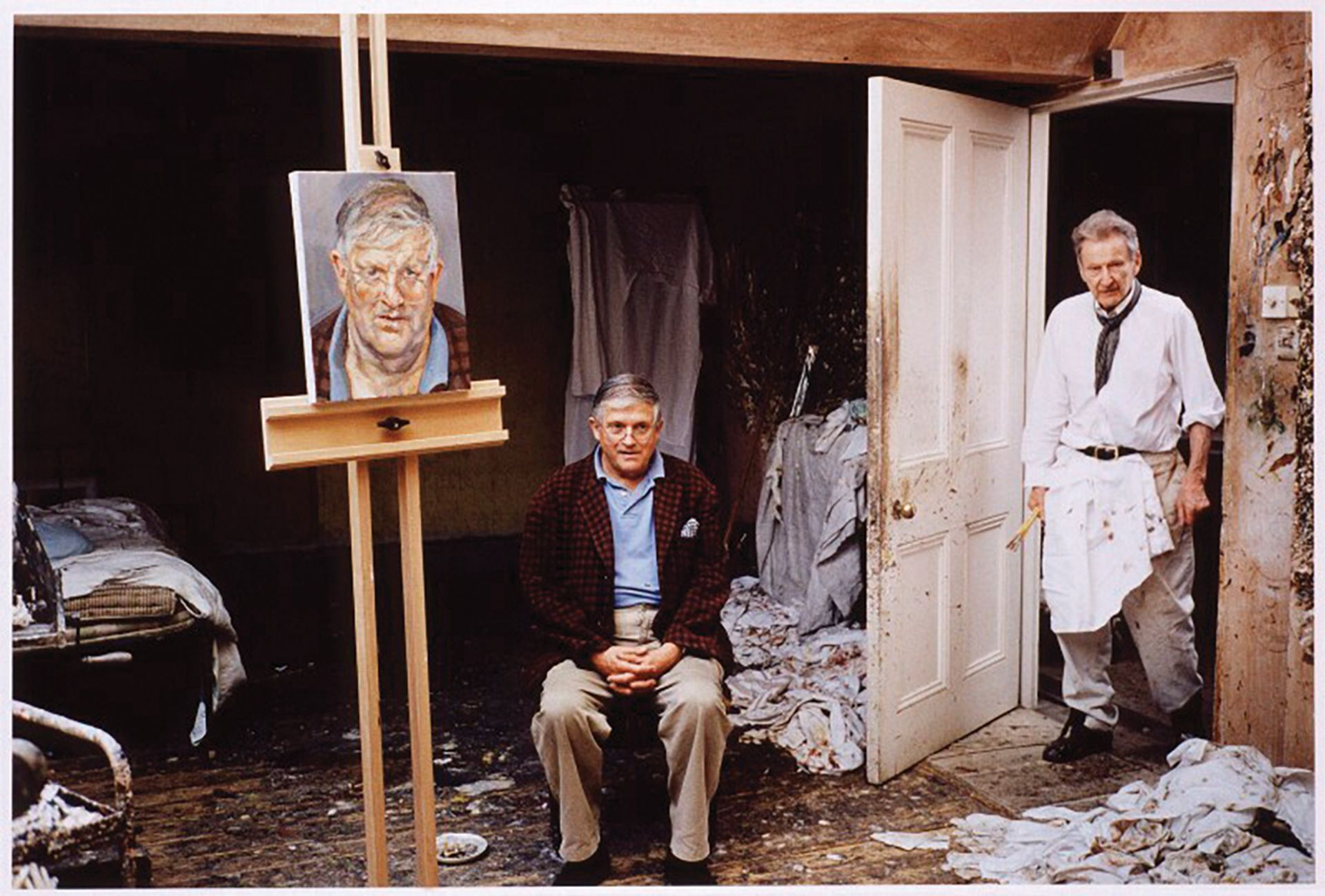 David Dawson's photograph of the artists David Hockney and Lucian Freud. The pair have been among the most popular in London this millennium © David Dawson