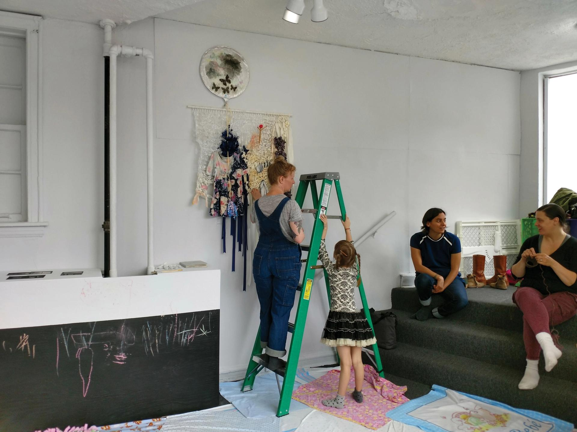 For the show Firsts and Starts: Art-Making as a New Mother at Roman Susan Art Foundation, Extended Practice hosted artist mother meet-ups and children were always welcome