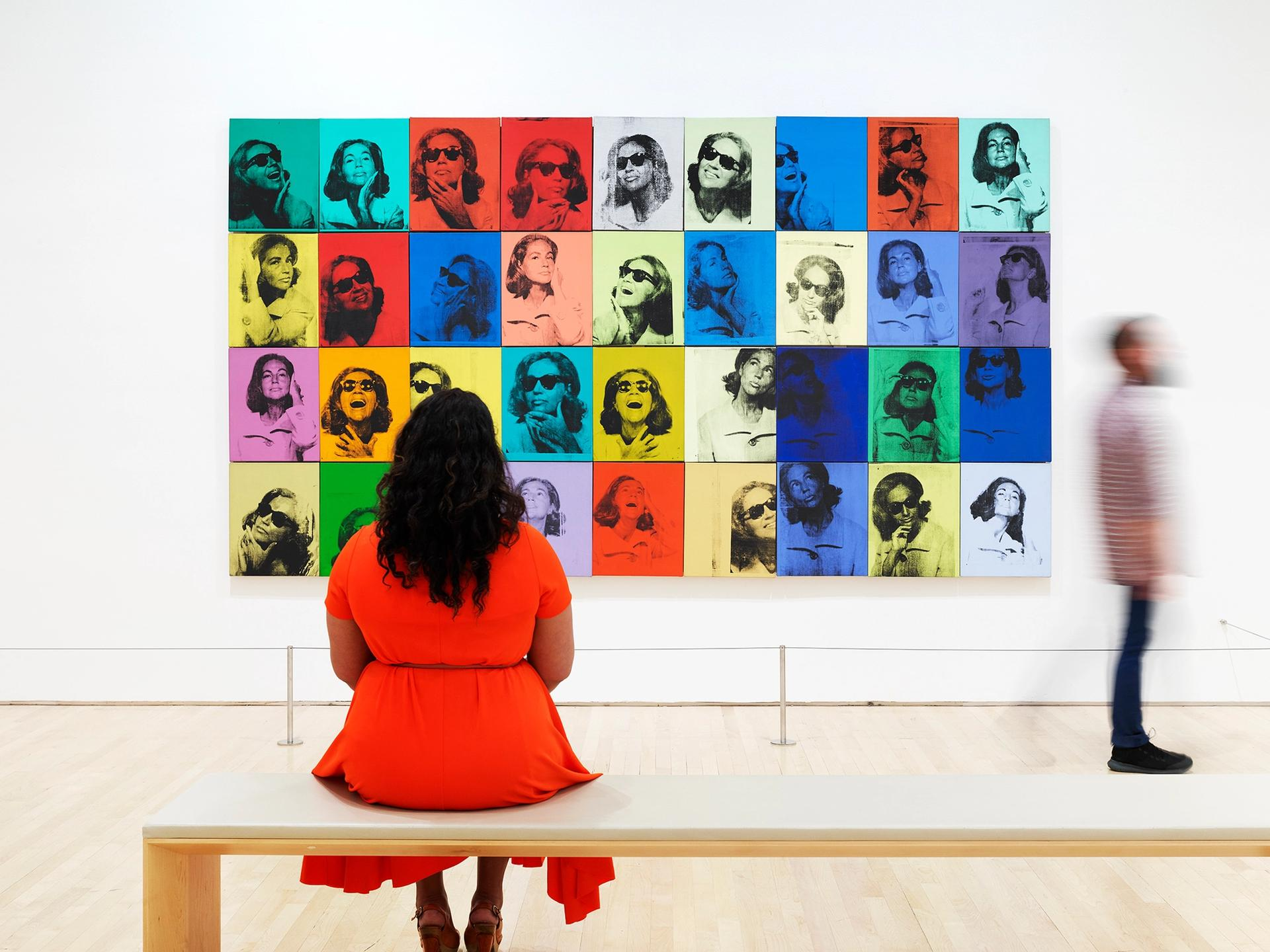 An installation view of Andy Warhol—From A to B and Back Again (2019) at SFMoMA © The Andy Warhol Foundation for the Visual Arts, Inc. / Artists Rights Society (ARS) New York. Photo: © Matthew Millman Photography