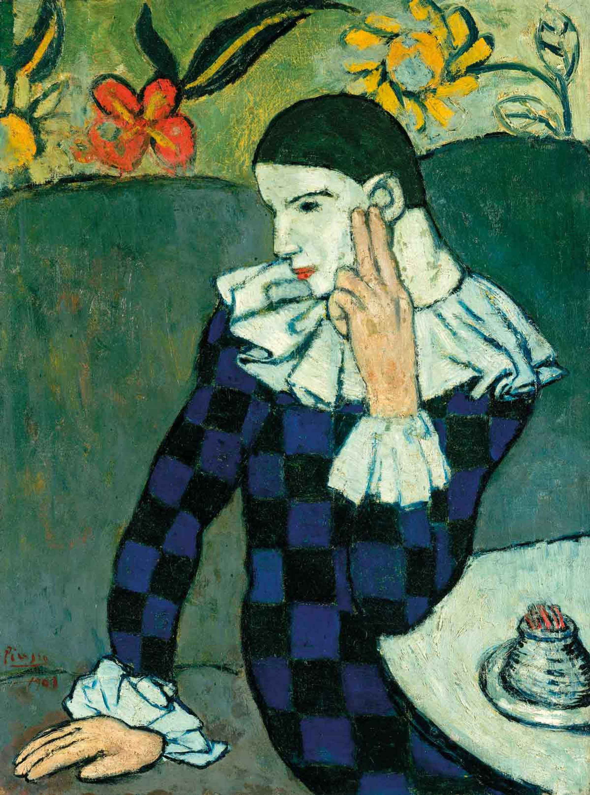 Picasso's Arlequin Accoudé (1901) will be in the Beyeler's blockbuster show next year Succession Picasso / ProLitteris, Zürich 2018. Photo ©The Metropolitan Museum of Art/Art Resource/Scala, Florence