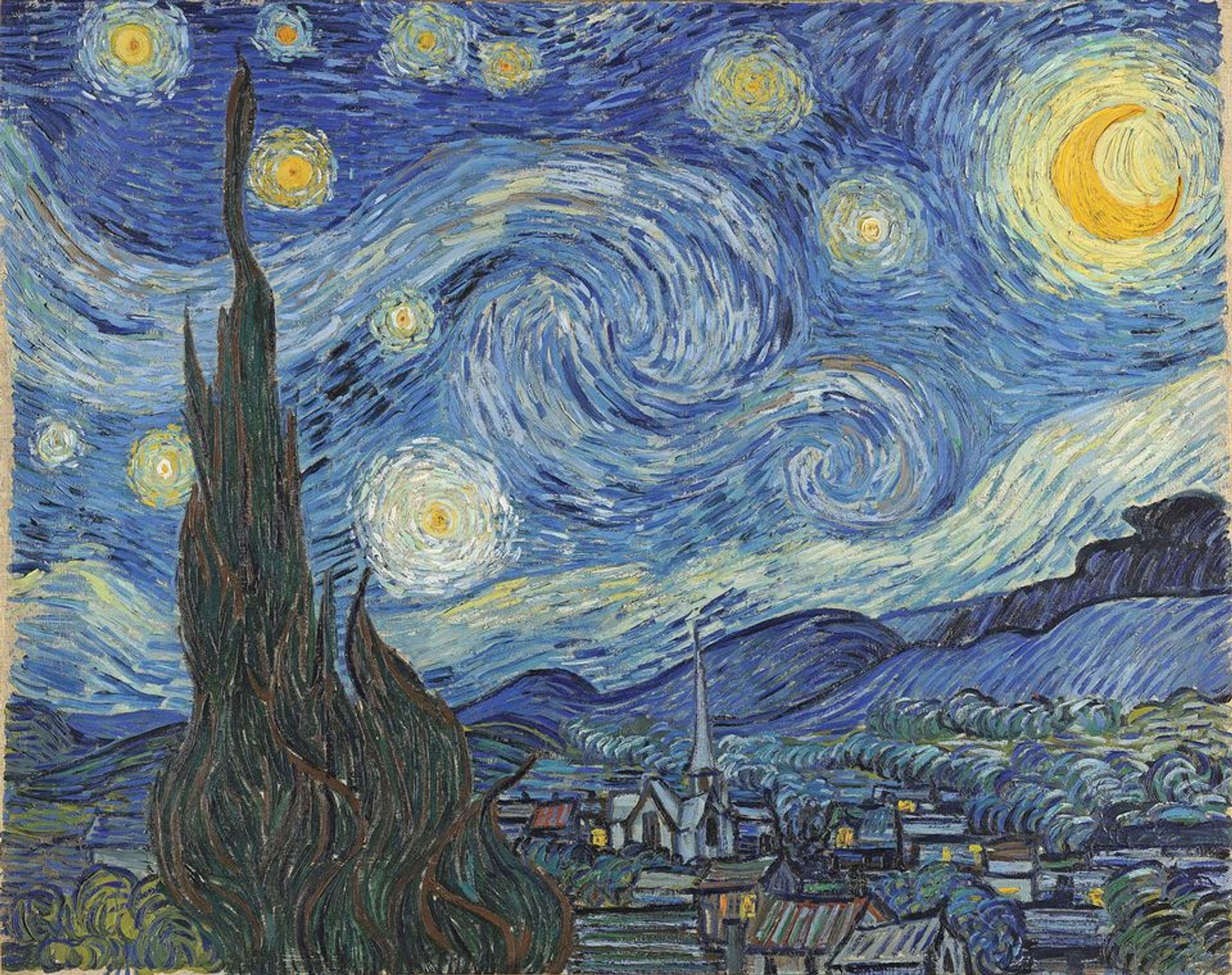 Van Gogh, Starry Night (painting), (June 1889) © Museum of Modern Art, New York Museum of Modern Art, New York, USA / Bridgeman Images