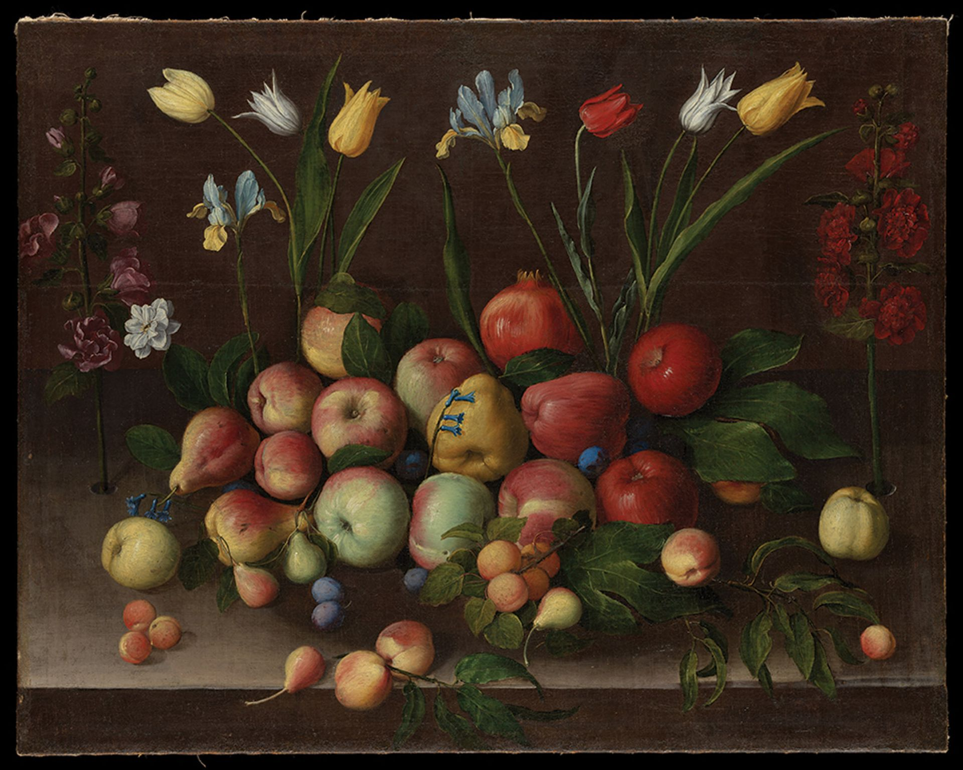 Orsolo Maddalena Caccia's Fruit and Flowers (around 1630) courtesy of the Metropolitan Museum of Art