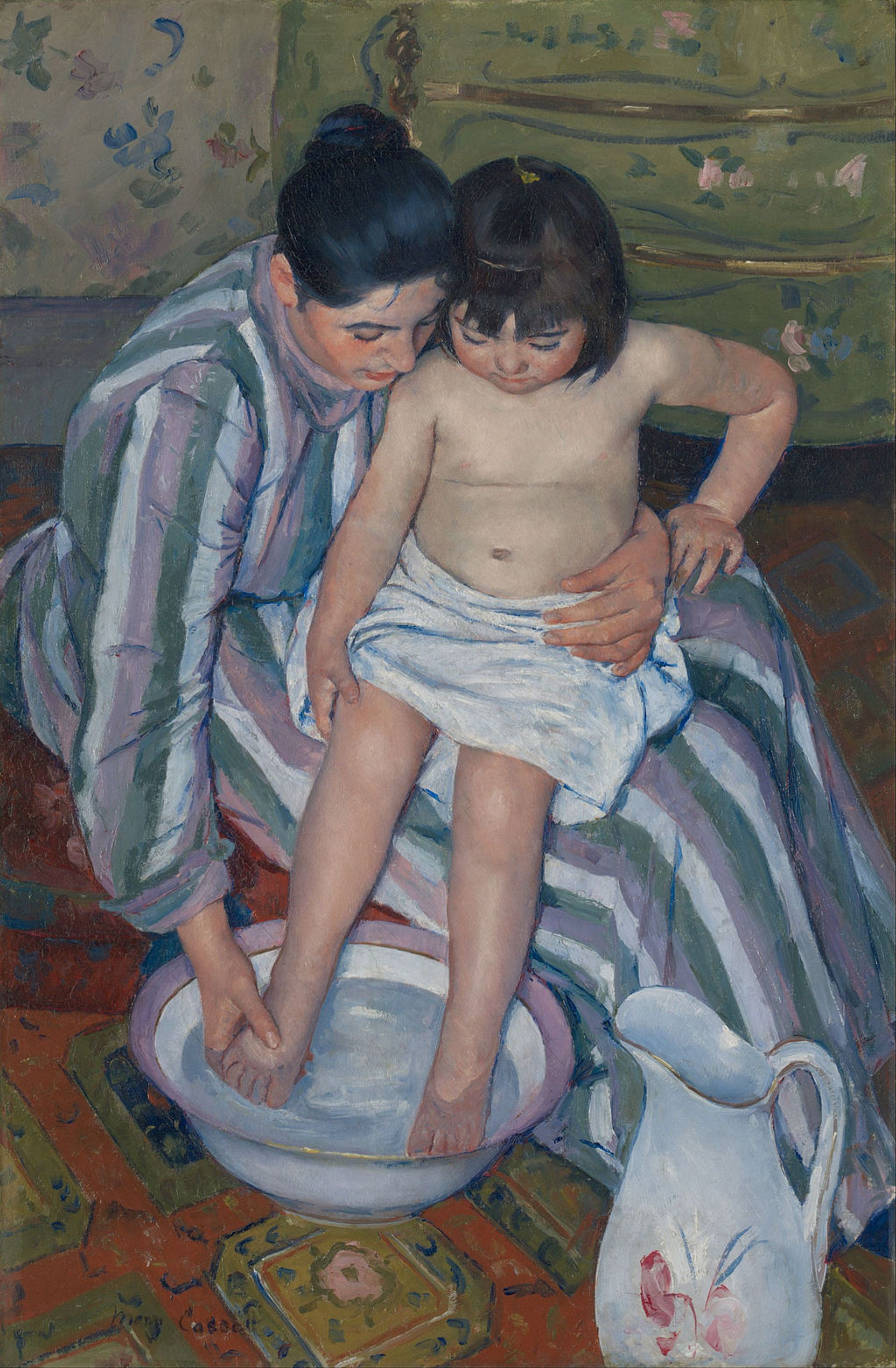 Mary Cassatt's The Child's Bath,  (1893)