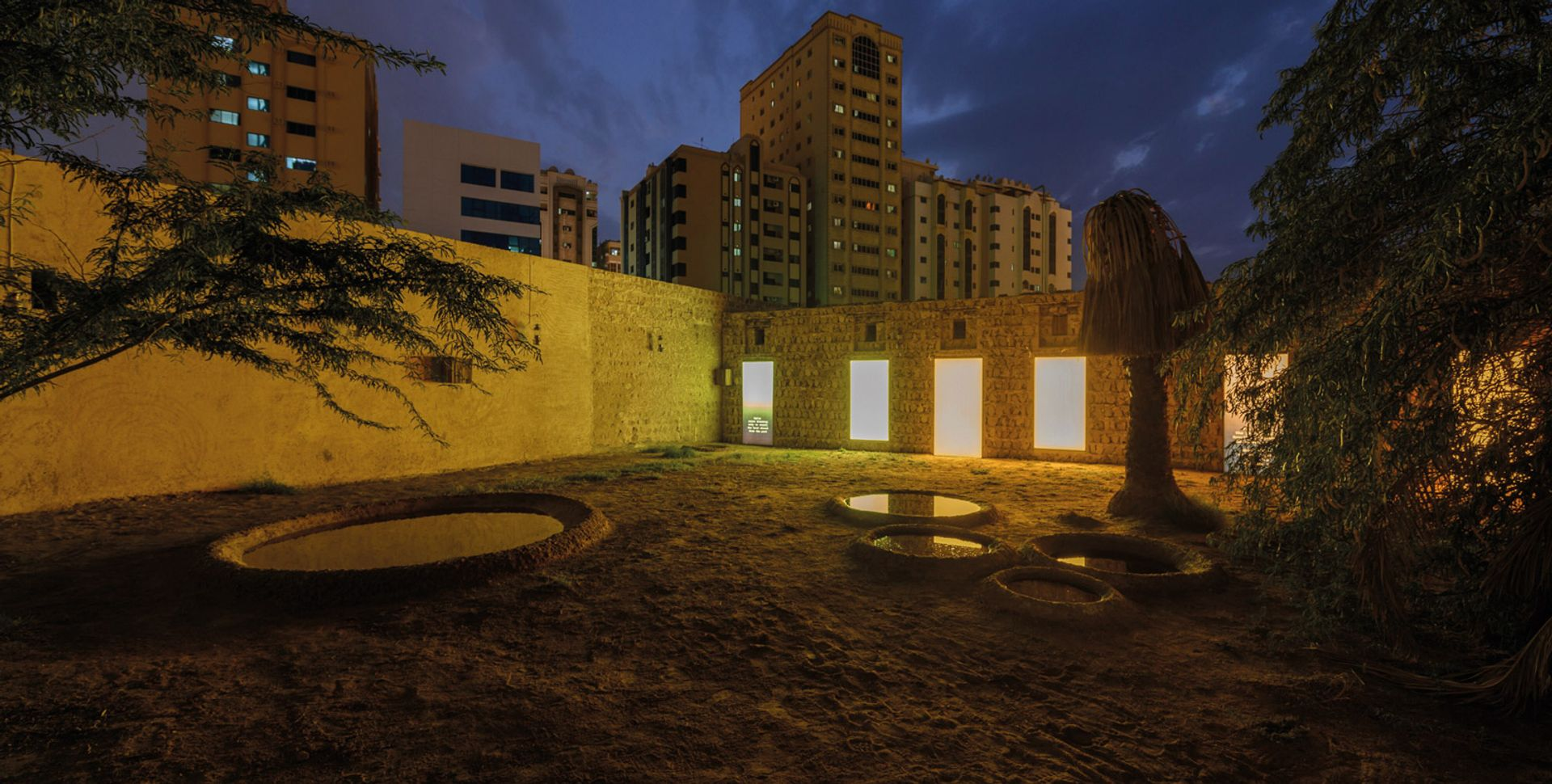 Aging Ruins Dreaming Only to Recall the Hard Chisel from the Past (2019) by Otobong Nkanga and Emeka Ogboh. Courtesy of the artists and Sharjah Art Foundation Aging Ruins Dreaming Only to Recall the Hard Chisel from the Past (2019) by Otobong Nkanga and Emeka Ogboh. Courtesy of the artists and Sharjah Art Foundation