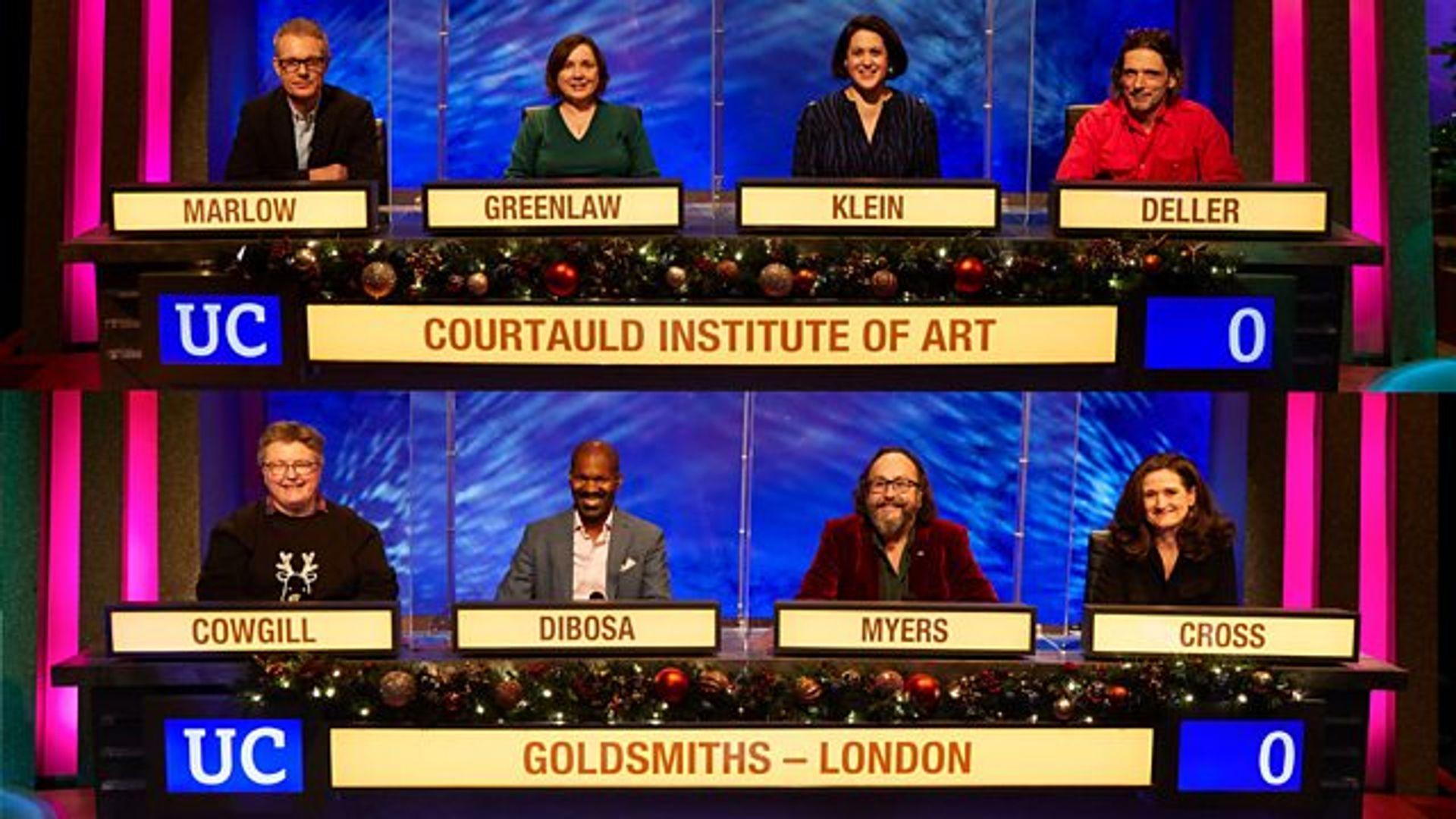 Courtauld were victorious in BBC University Challenge courtesy BBC