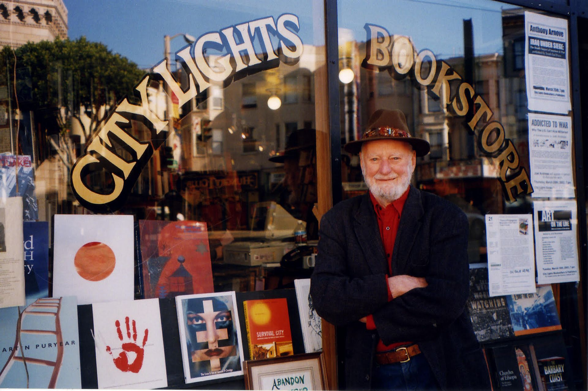 Lawrence Ferlinghetti Photo: courtesy of City Lights Bookstore