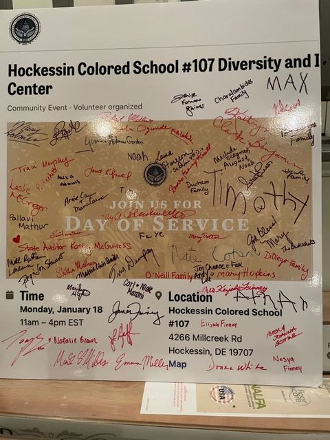 Biden Presidential Inauguration Committee - MLK Holiday - Day of Giving at Hockessin Colored School #107