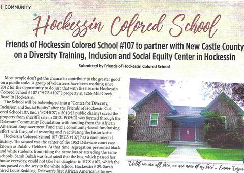 Hockessin Living Magazine - Article on HCS #107