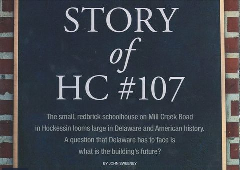 Delaware State Chamber of Commerce Magazine - History of Hockessin Colored School #107