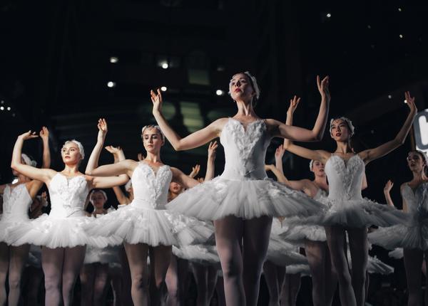 Balletttänzerinnen Schwanensee
