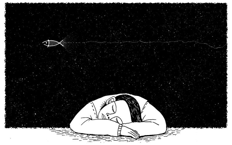 Illustration träumender Mensch: Traumdeutung