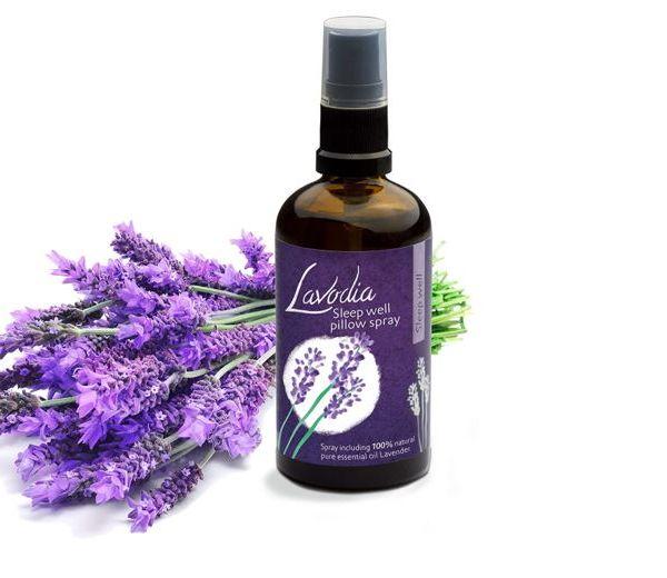 Lavodia Kissenspray und Lavendel