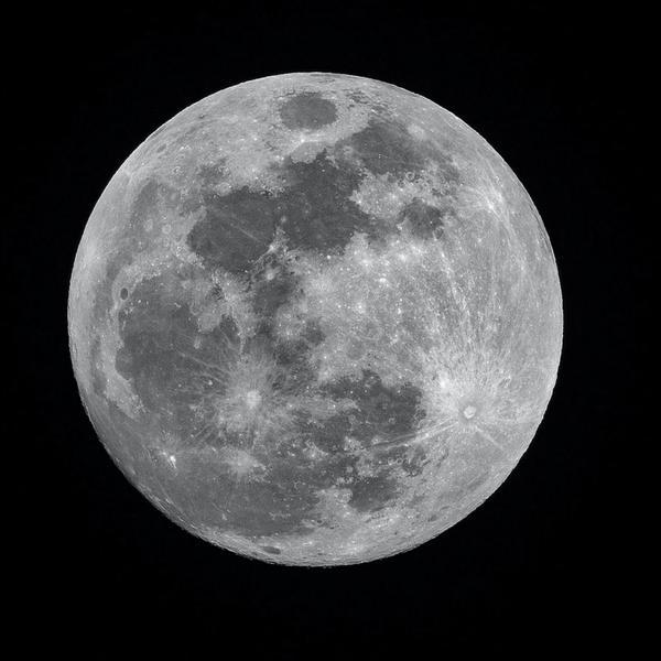 Mond, schwarzweiß