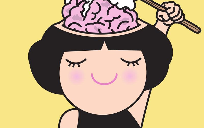 Frau wäscht Gehirn Schlaf