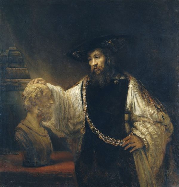 Aristoteles und der Schlaf: Gemälde Rembrandt