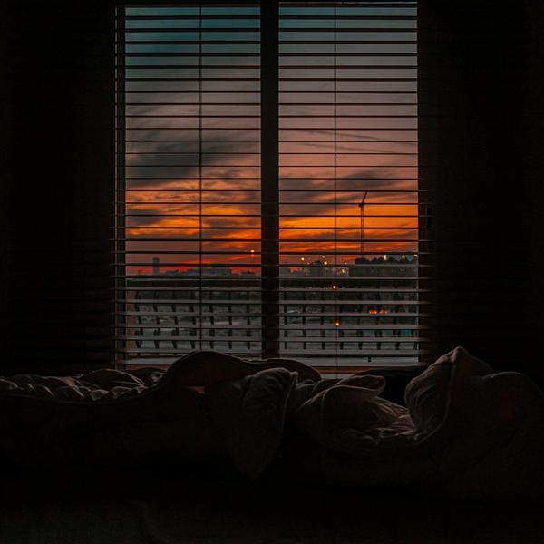 Schlaf im Bett.