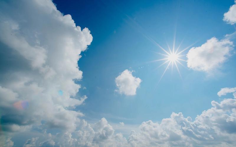 Himmel Hitze Sonne
