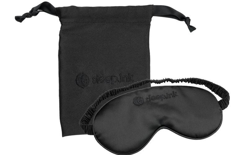 Schlafmaske von Sleep.ink und Beutel