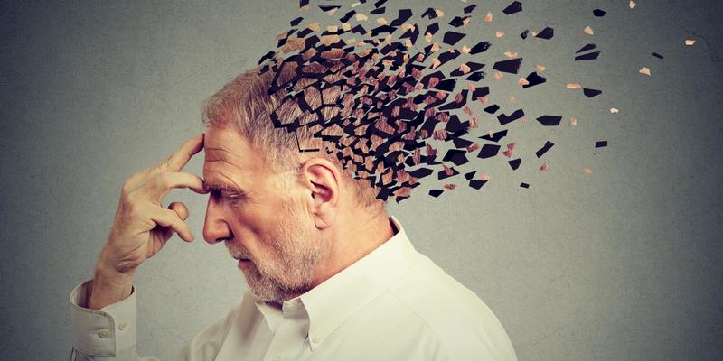 älterer Mann Demenz Alzheimer-Proteine Schlaf