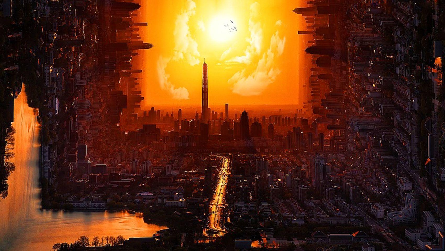 Luzides Träumen: Sonnenuntergang Skyline