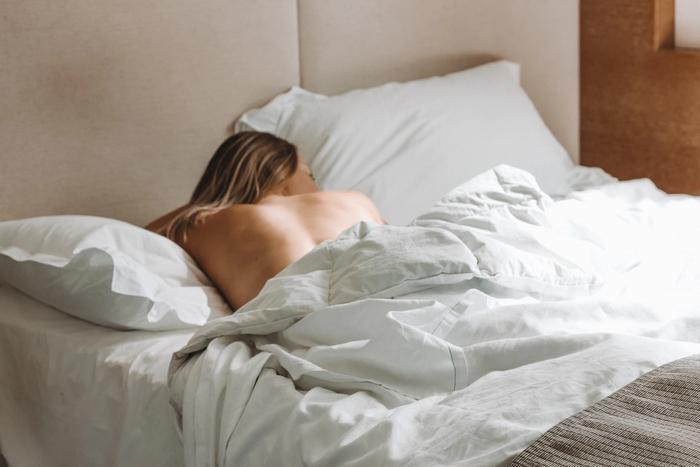 Schlafende Frau; Schlafstörungen in den Wechseljahren