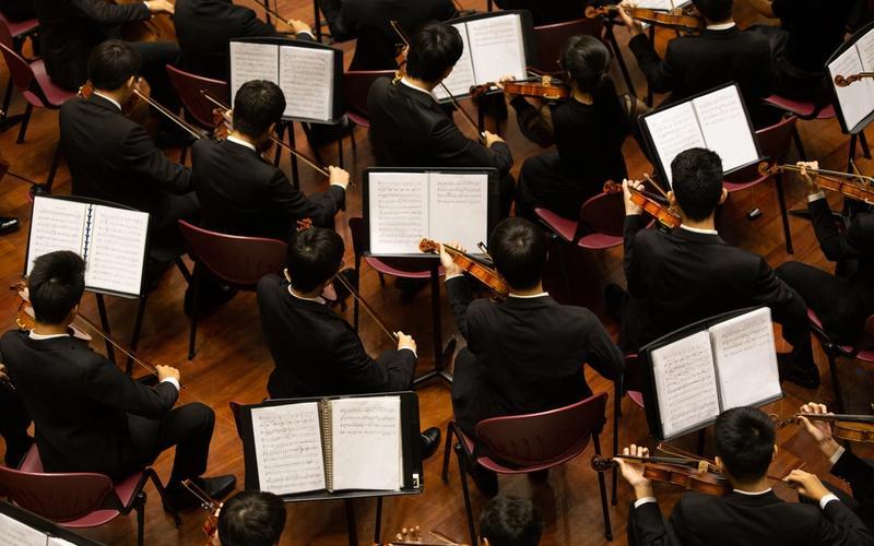 Orchester, klassische Musik.