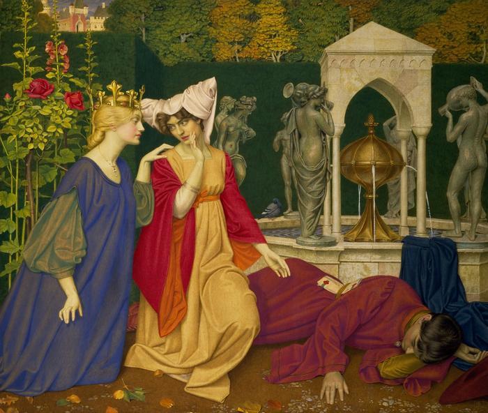 Gemälde schlafende Prinzessin