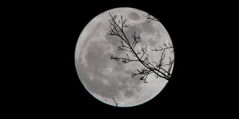 Vollmond Schlaf Nachthimmel