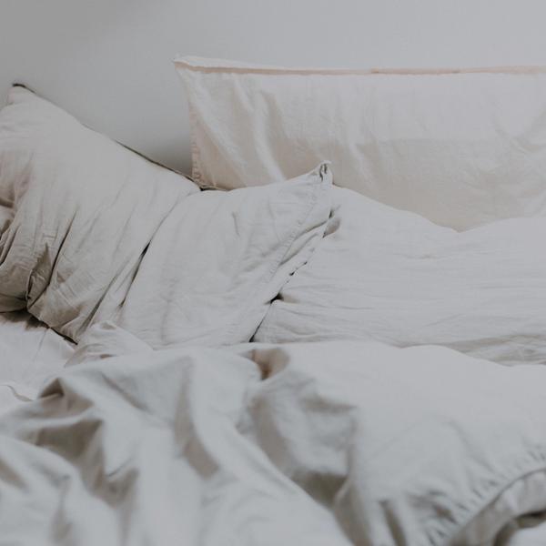 Kopfkissen in Bett