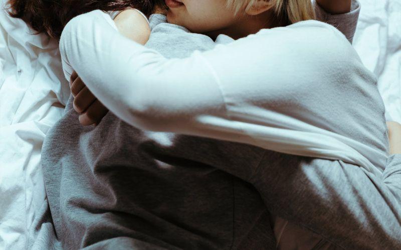 Kuscheln Zusammen schlafen