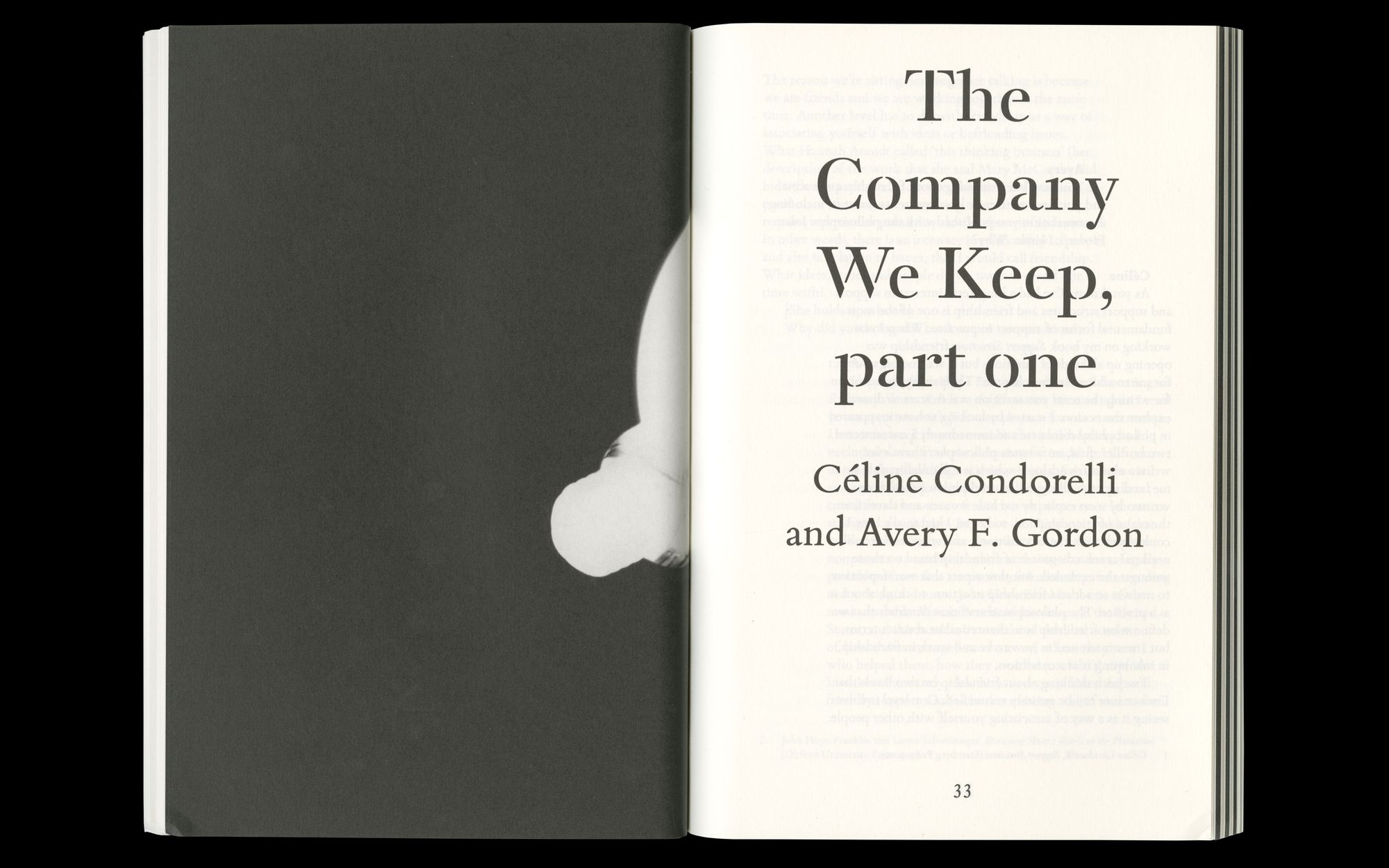 Scan of Céline Condorelli, 'The Company She Keeps', Book Works, 2014