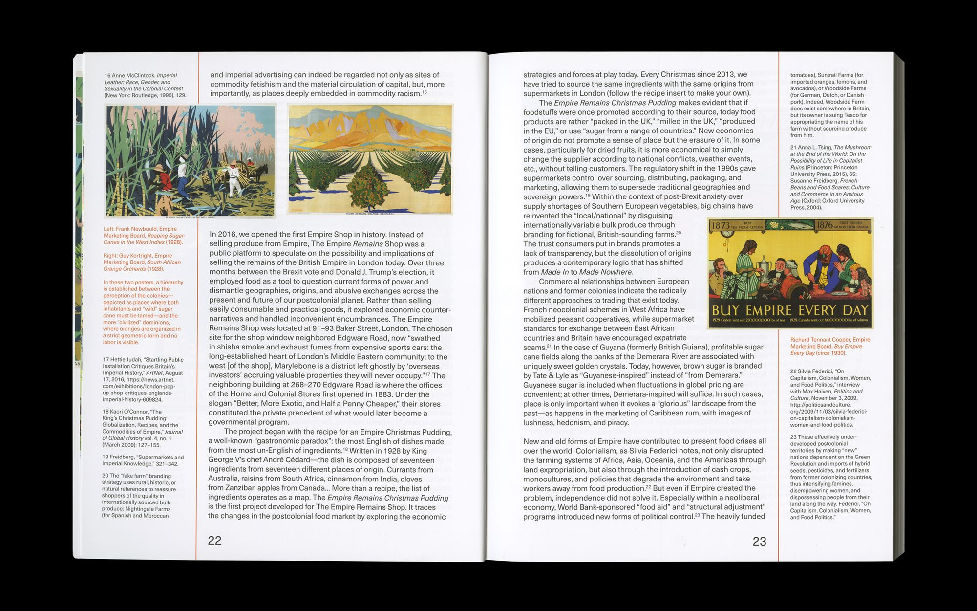 Scan of internal spread of The Empire Remains Shop publication