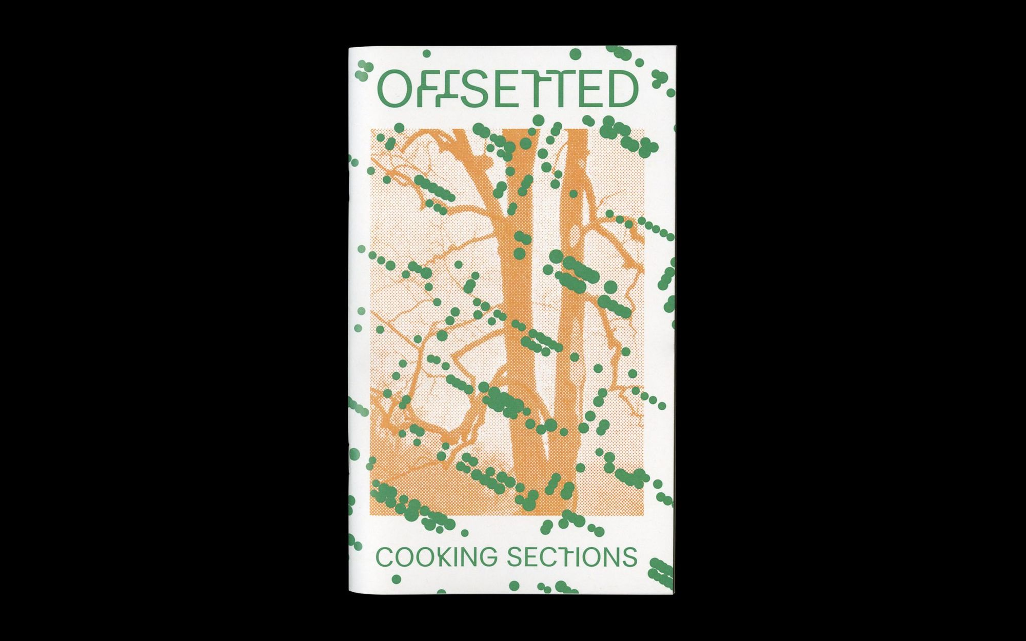 Scan of cover of 'Offsetted' exhibition brochure.