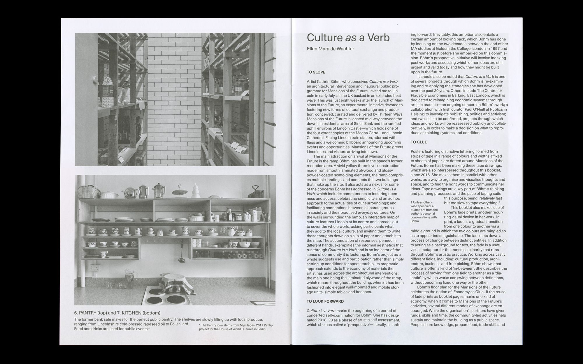 Scan of 'Culture is a Verb' brochure for Kathrin Bohm, 2018