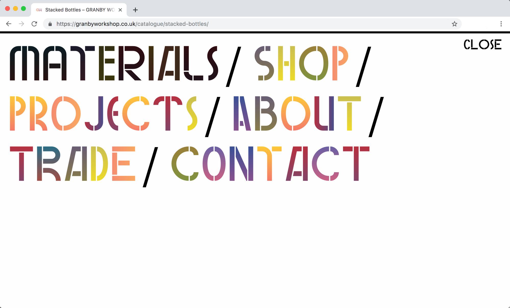 Screen grab of Granby Workshop website