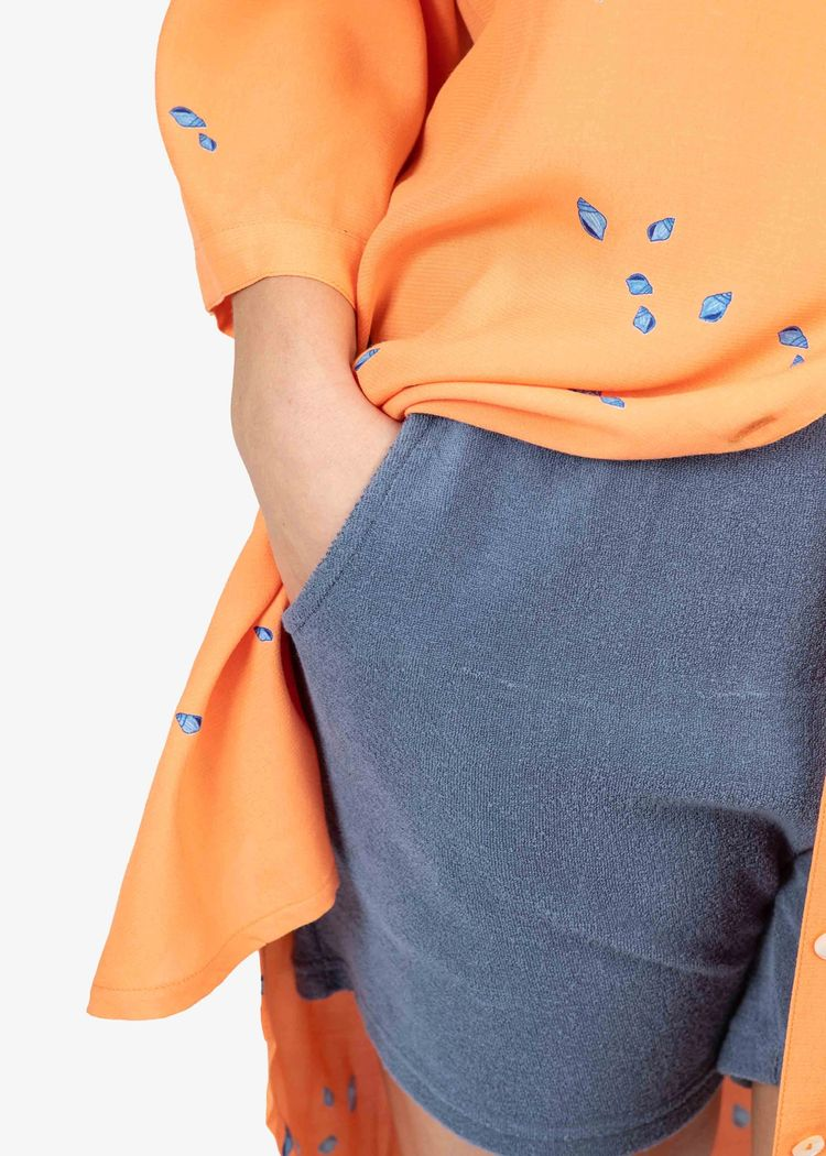 "Secondary product image for ""Vendela Dress Mini Shell Peach"""