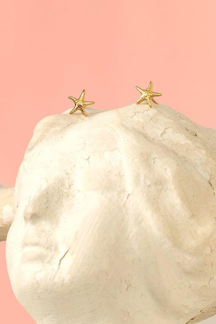 """Secondary product image for """"Örhänge Sjöstjärna Guld"""""""