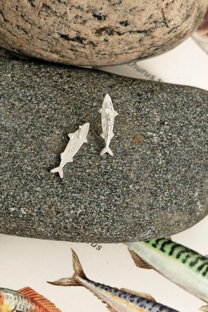 "Secondary product image for ""Örhänge Makrill Silver"""