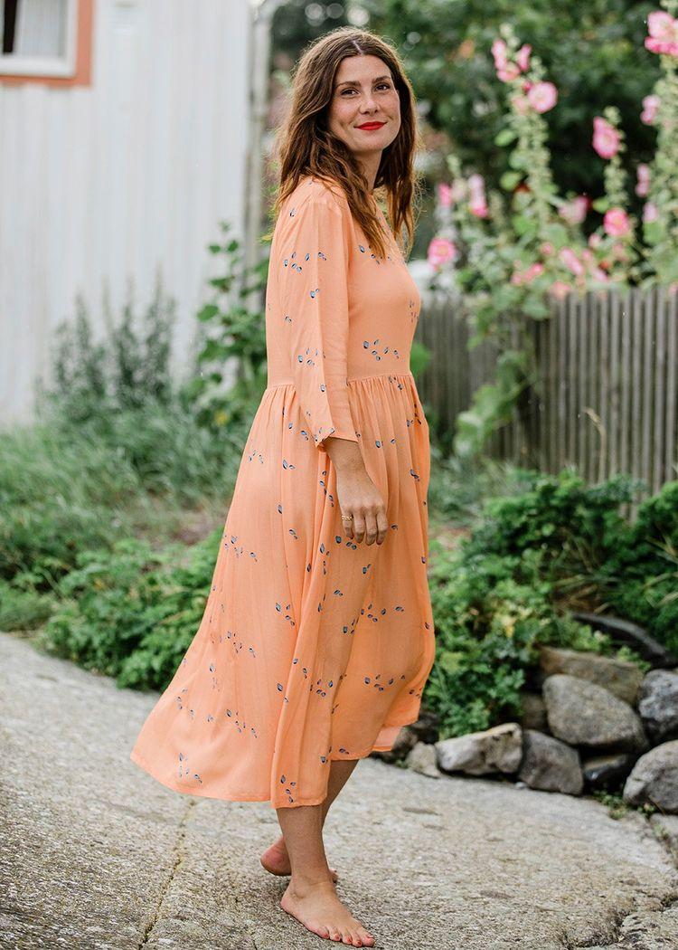 "Secondary product image for ""Minna Dress Mini Shell Peach"""