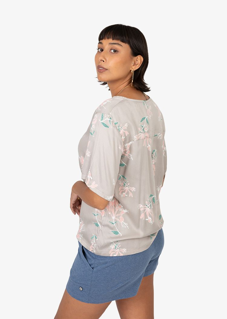 """Secondary product image for """"Mita Blouse Honeysuckle Mole"""""""