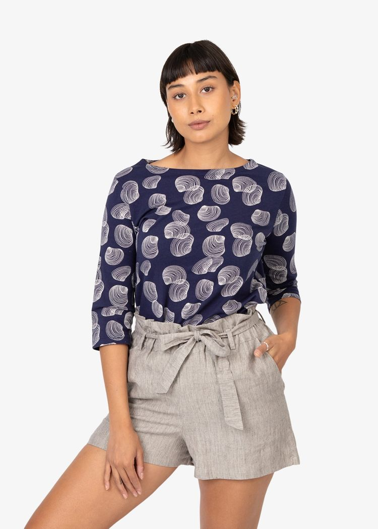 """Secondary product image for """"Mela Blouse Shell Navy"""""""