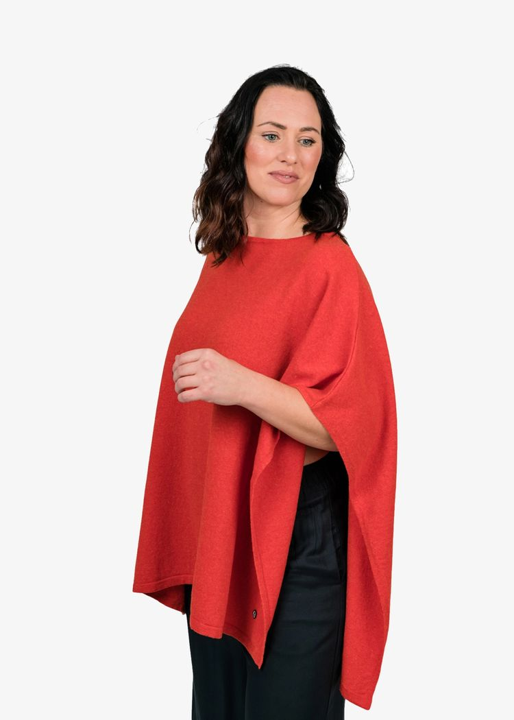 """Secondary product image for """"Lo Poncho Orange"""""""