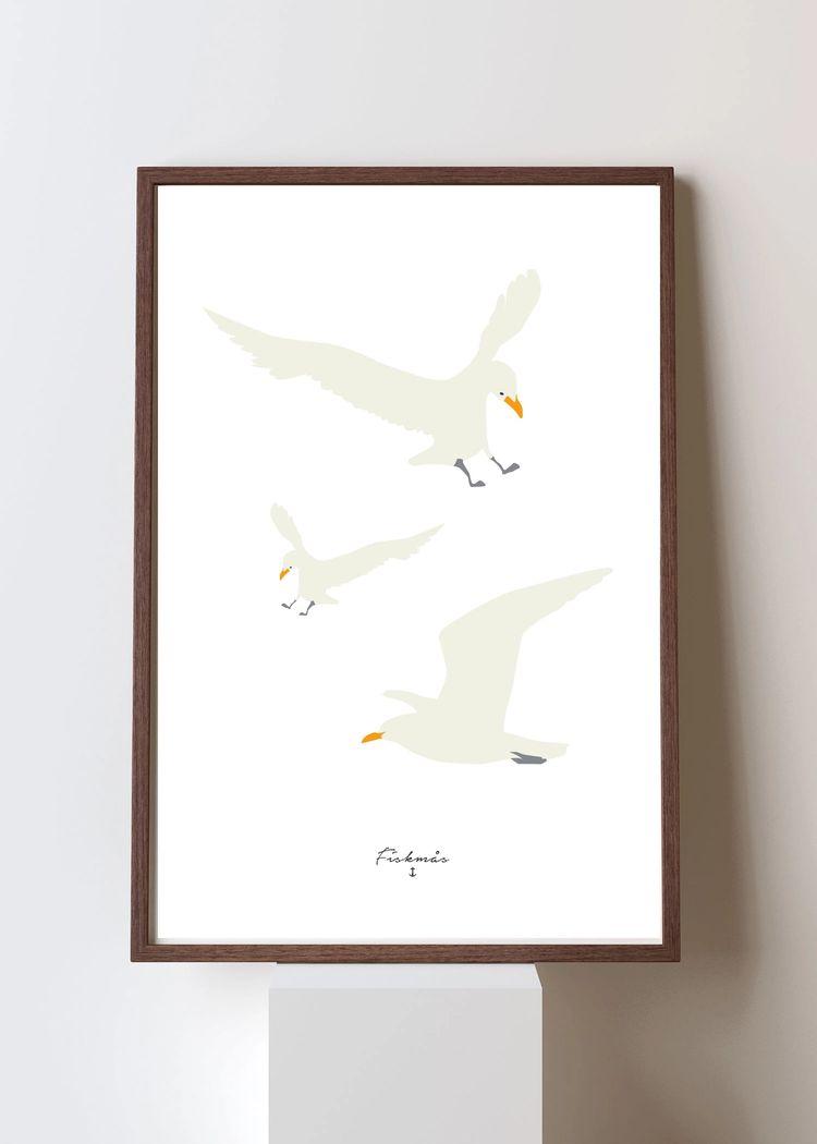 "Product image for ""Poster Fiskmås"""