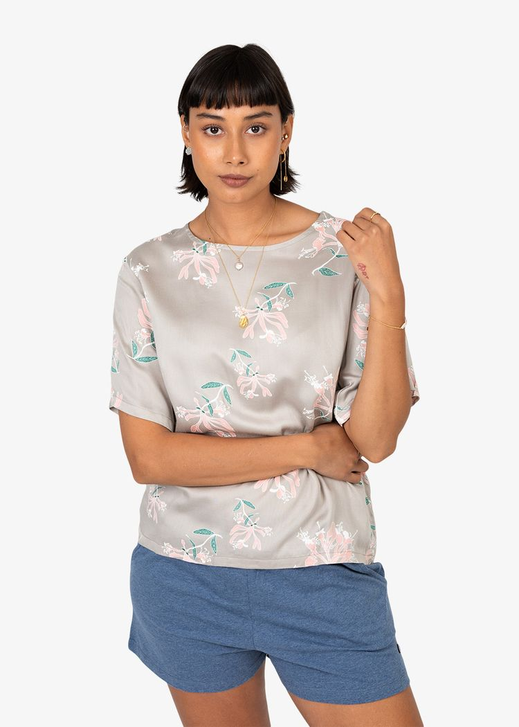 """Product image for """"Mita Blouse Honeysuckle Mole"""""""