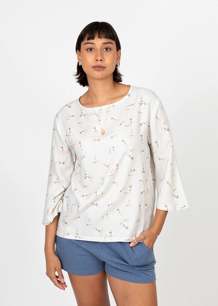 """Secondary product image for """"Lauren Blouse Oyster"""""""