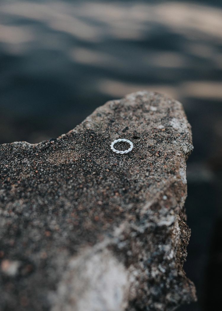 """Secondary product image for """"Ring Tvinnad Silver"""""""