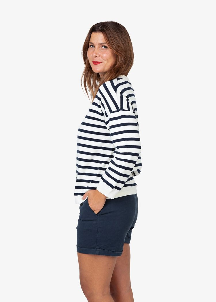 """Secondary product image for """"Stina Knitted Sweater Stripe"""""""