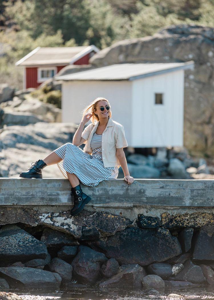 """Secondary product image for """"Tilda Skirt Stripe Melange"""""""